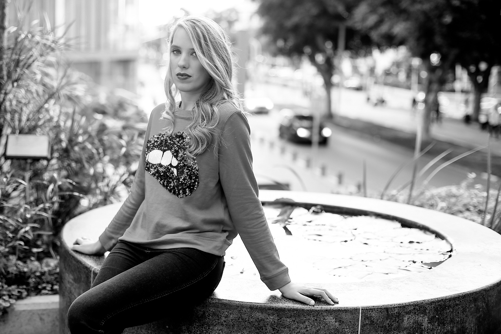 PRINTED TOPS - NEW ADDICTION.... IN BLACK AND WHITE SHOT
