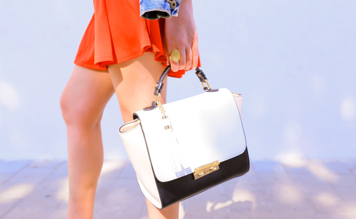 TRENDY LADY bag close up